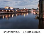 dawn at the peaceful waters of... | Shutterstock . vector #1428518036