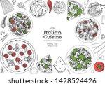 italian food top view menu... | Shutterstock .eps vector #1428524426