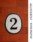 house number two painted in a... | Shutterstock . vector #1428524759