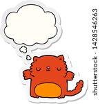 cartoon cat with thought bubble ... | Shutterstock .eps vector #1428546263
