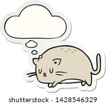 cute cartoon cat with thought... | Shutterstock .eps vector #1428546329