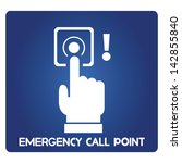 emergency call point  button | Shutterstock .eps vector #142855840