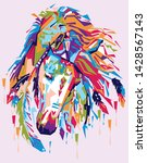 Horses In Pop Art With Pink...
