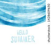 hello summer post card with... | Shutterstock . vector #1428609650