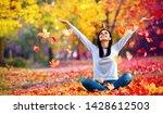 happy woman enjoying life in... | Shutterstock . vector #1428612503