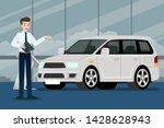 a happy businessman  salesman...   Shutterstock .eps vector #1428628943