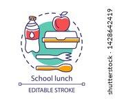 school lunchtime  meal break... | Shutterstock .eps vector #1428642419