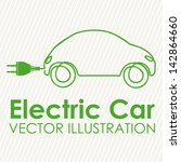 electric car design over white... | Shutterstock .eps vector #142864660