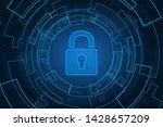 cyber security technology...   Shutterstock . vector #1428657209