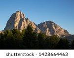 sassolungo during early sundown ... | Shutterstock . vector #1428664463