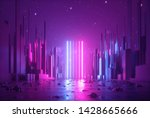 3d Abstract Neon Background ...