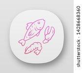 seafood app icon. omega 3...