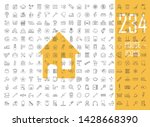 house linear icons big set.... | Shutterstock .eps vector #1428668390