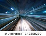 motion blur of a city and... | Shutterstock . vector #142868230