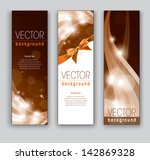 banners. vector backgrounds. | Shutterstock .eps vector #142869328