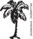 palm tree 2   retro ad art... | Shutterstock .eps vector #1428697766