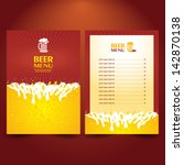 beer card menu | Shutterstock .eps vector #142870138