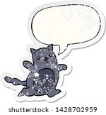 cartoon cat with speech bubble... | Shutterstock .eps vector #1428702959