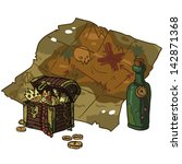 treasure map. the vector... | Shutterstock .eps vector #142871368
