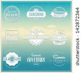 retro elements for summer... | Shutterstock .eps vector #142872364