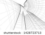abstract modern architecture... | Shutterstock .eps vector #1428723713