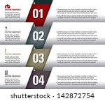 modern graphic or website... | Shutterstock .eps vector #142872754