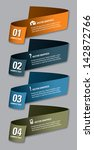 set of vector numbered banners. ... | Shutterstock .eps vector #142872766