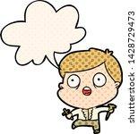 cartoon frightened man hunting... | Shutterstock .eps vector #1428729473