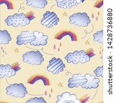 seamless repeat print pattern... | Shutterstock . vector #1428736880