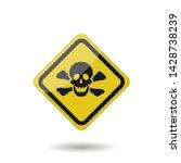 danger vector sign. yellow... | Shutterstock .eps vector #1428738239