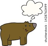 cartoon bear with thought bubble   Shutterstock .eps vector #1428763499