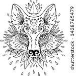 cute fox face. character tattoo ...   Shutterstock .eps vector #1428765479