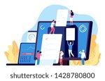 online voting. people vote with ... | Shutterstock .eps vector #1428780800