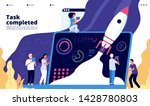 startup concept. people launch... | Shutterstock .eps vector #1428780803