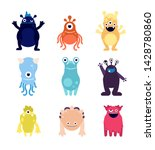 cute monsters. funny monster... | Shutterstock .eps vector #1428780860