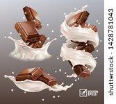 3d realistic vector set splash... | Shutterstock .eps vector #1428781043