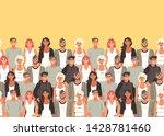 horizontal seamless pattern... | Shutterstock .eps vector #1428781460