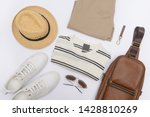 men's accessories on white... | Shutterstock . vector #1428810269