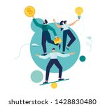 vector illustration  teamwork... | Shutterstock .eps vector #1428830480