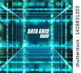 vector particle grid.... | Shutterstock .eps vector #1428831203