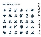 simple bold vector icons...   Shutterstock .eps vector #1428874853
