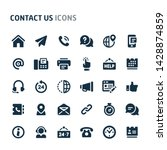 simple bold vector icons... | Shutterstock .eps vector #1428874859