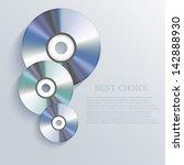 vector cd background. eps10 | Shutterstock .eps vector #142888930