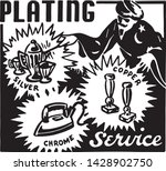 plating service   retro ad art... | Shutterstock .eps vector #1428902750