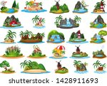 set of different island... | Shutterstock .eps vector #1428911693