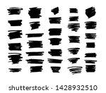 vector brush strokes text boxes....   Shutterstock .eps vector #1428932510