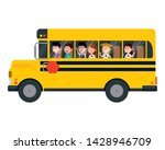 school bus transport with group ... | Shutterstock .eps vector #1428946709