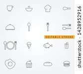 food icon set. editable stroke | Shutterstock .eps vector #1428952916