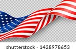 american flag on transparent... | Shutterstock .eps vector #1428978653