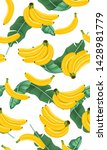 banana seamless pattern with... | Shutterstock .eps vector #1428981779